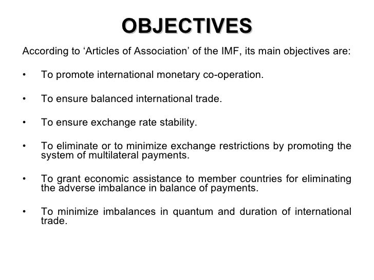 objectives of imf