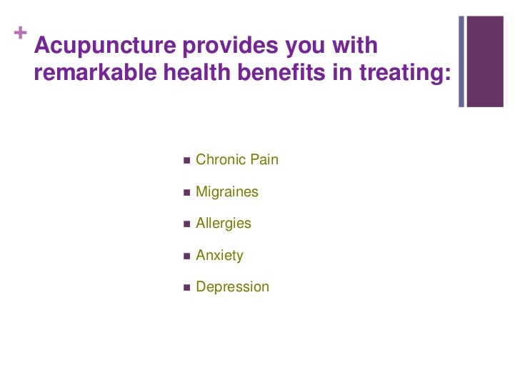 5 Reasons why Acupuncture is Right for you Slide 2
