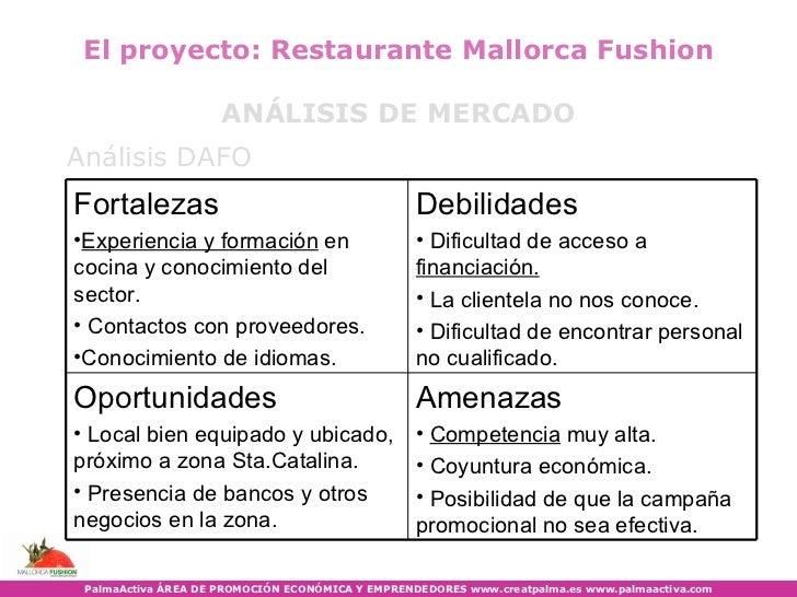 Palmaactiva sesi n demo plan empresa restaurante for Proyecto cocina restaurante