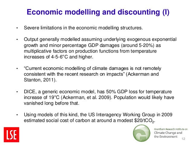 Economic modelling and discounting (I)•   Severe limitations in the economic modelling structures.•   Output generally mod...