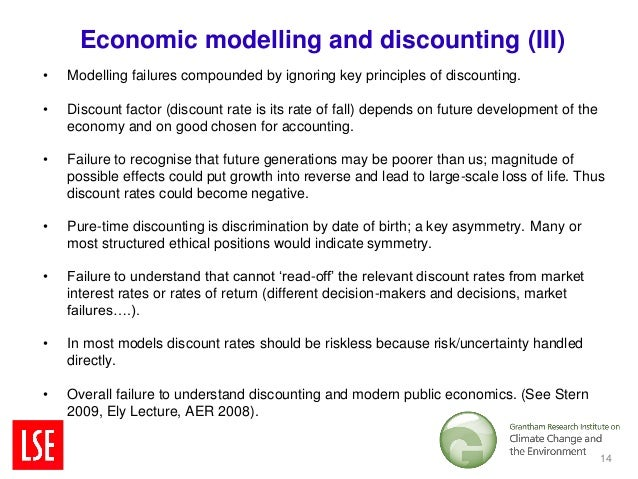 Economic modelling and discounting (III)•   Modelling failures compounded by ignoring key principles of discounting.•   Di...