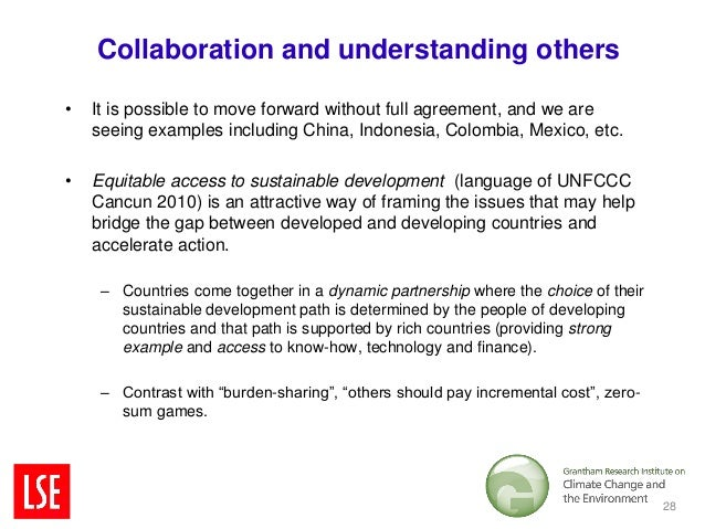 Collaboration and understanding others•   It is possible to move forward without full agreement, and we are    seeing exam...