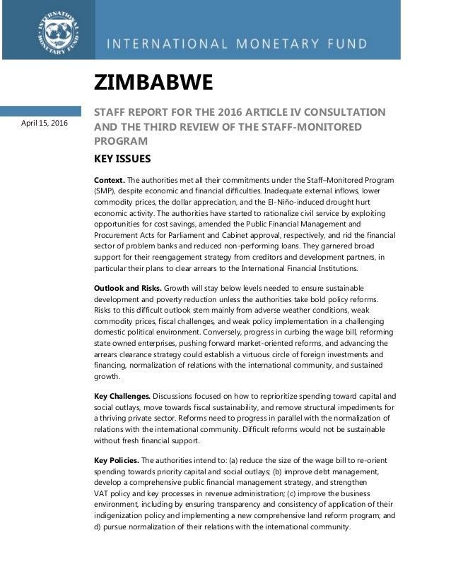 article iv studies imf