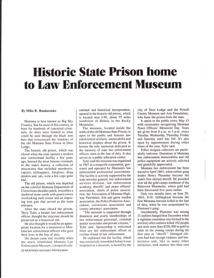Historic State Prison home  to Law Dnforeement MuseumBy Mike R. Bondarenko                       cational and historical i...