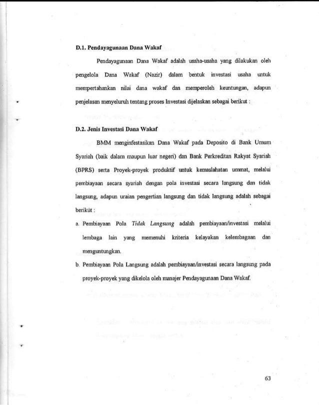 Skripsi Tentang Analisis Pengelolaan Wakaf Tunai Di Indonesia Hal 63