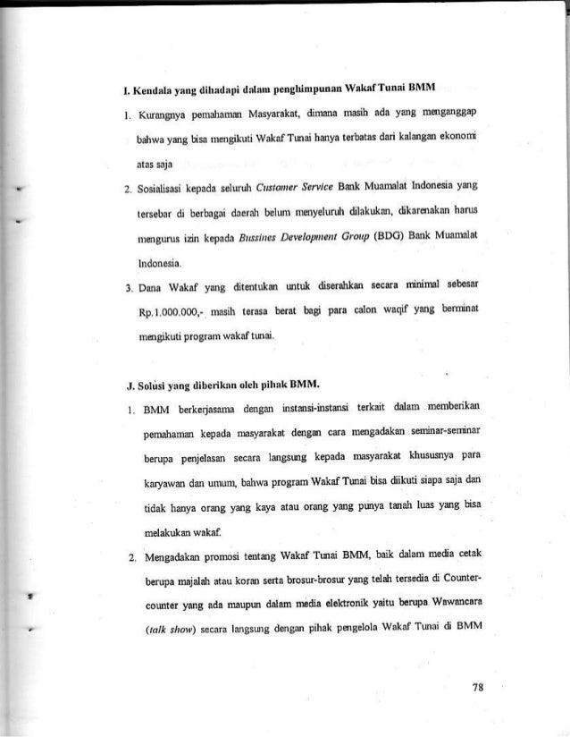 Skripsi Tentang Analisis Pengelolaan Wakaf Tunai Di Indonesia Hal 78