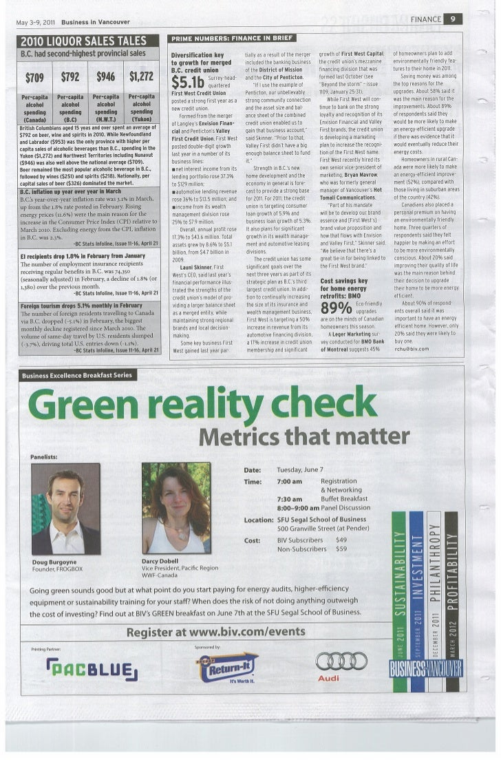 Proud to sponsor the BIV Green Breakfast Edition - Sustainability