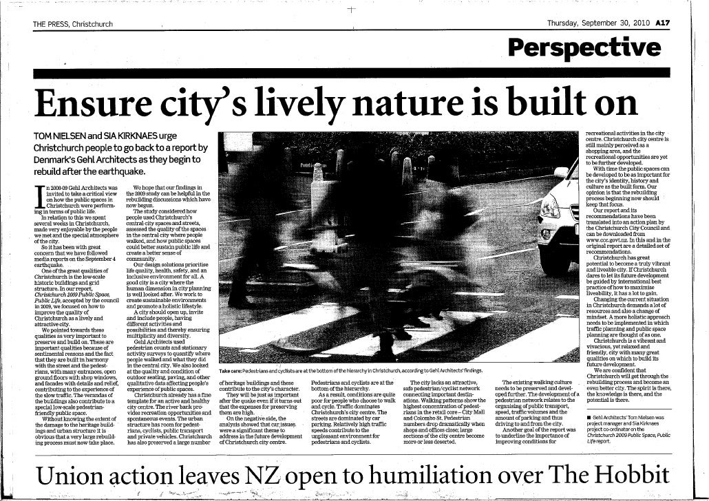 Opinion on rebuilding of Christchurch