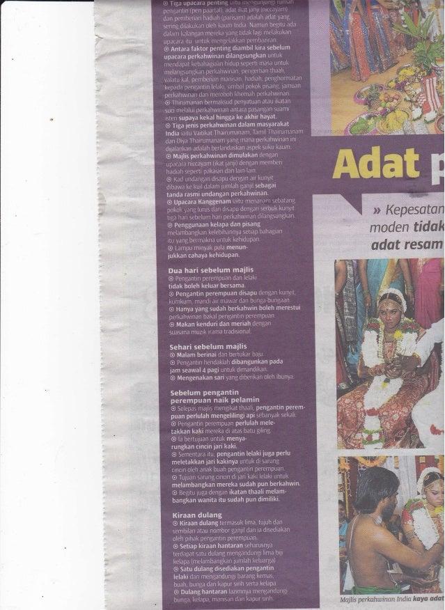 gn 'il,,tidslt adat resom Majlis perkahwinon India koYa ffi
