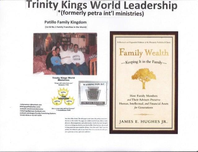 "lTri n ity_ l( i ngs W-o rfd Le a d e rs h i p- l:rc(formerly petra int'l ministries) Fatitrlo Family Klngdom {lst & No""l ..."