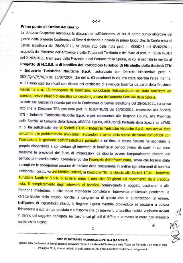 ooo Primo punto all,ordine det Giorno La dott.ssa Gasparrini introduce la discussione sull'elaborato, di cui al primo punt...