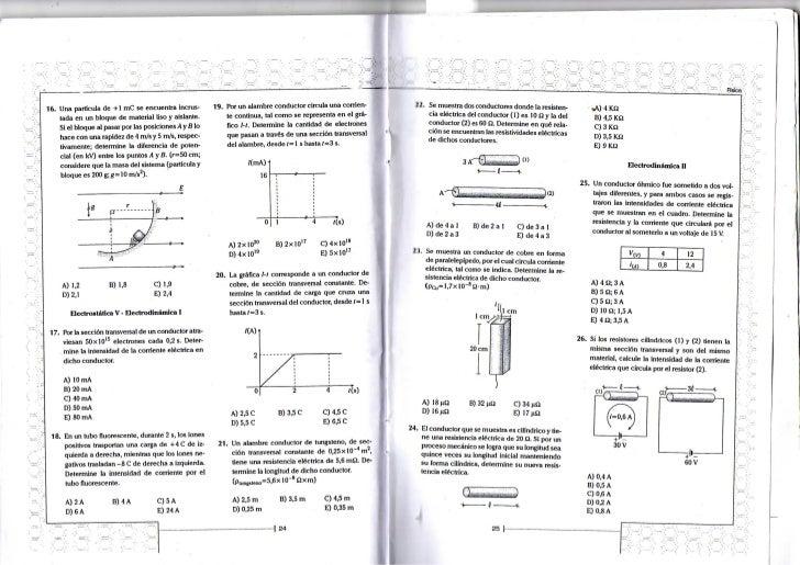 Hsica16. U n a partícula de + 1 n i C se e n c u e n t r a incrus-                    19. Por u n a l a m b r e c o n d u ...