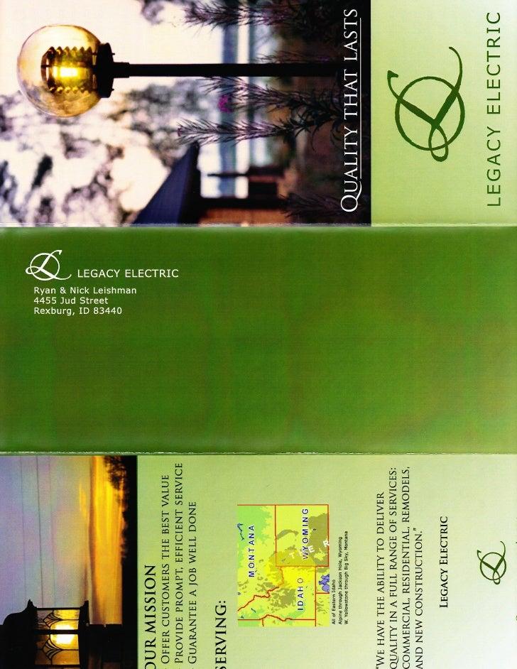 Legacy Electric Brochure