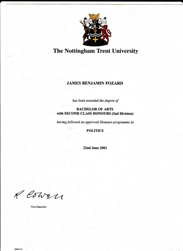 ntu politics degree certificate  22 06 01