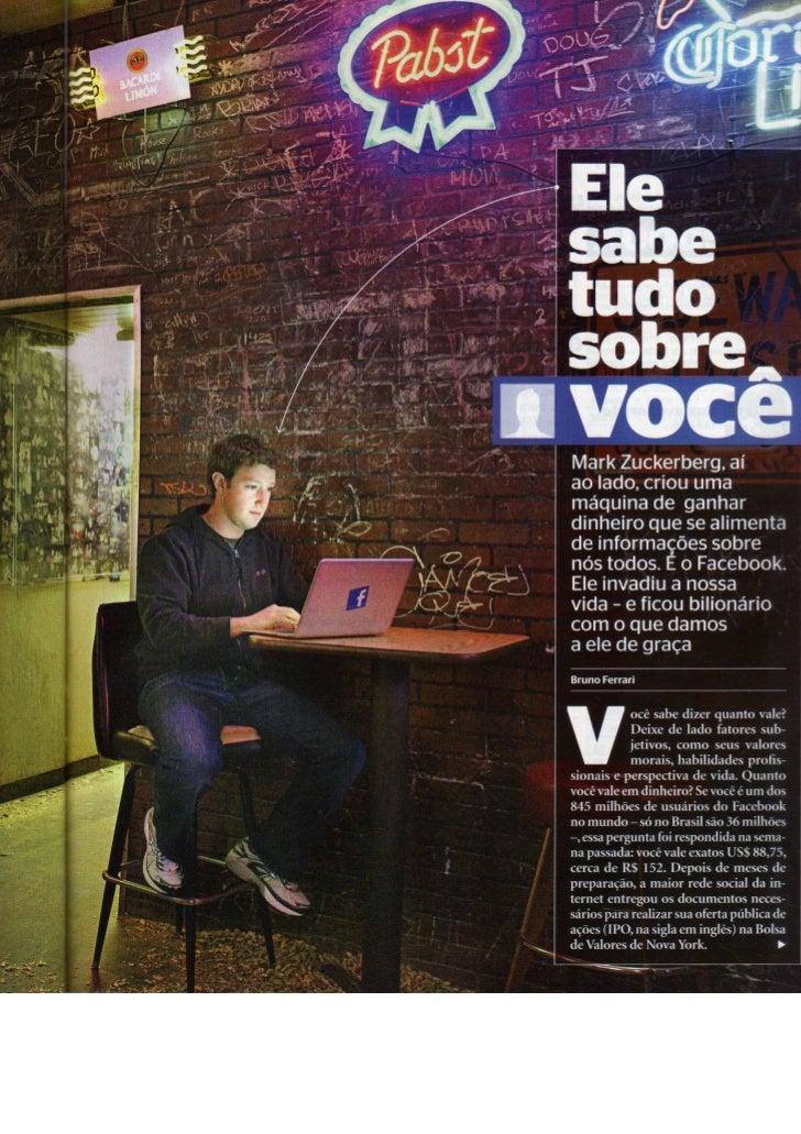 Reportagem da revista Época sobre o Facebook