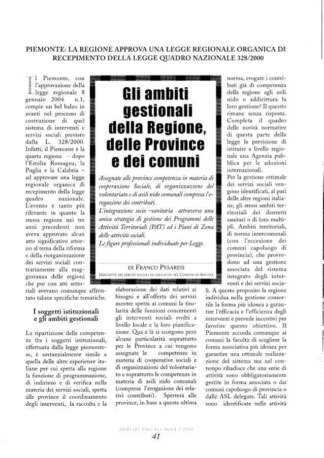 Piemonte: la legge sui servizi sociali