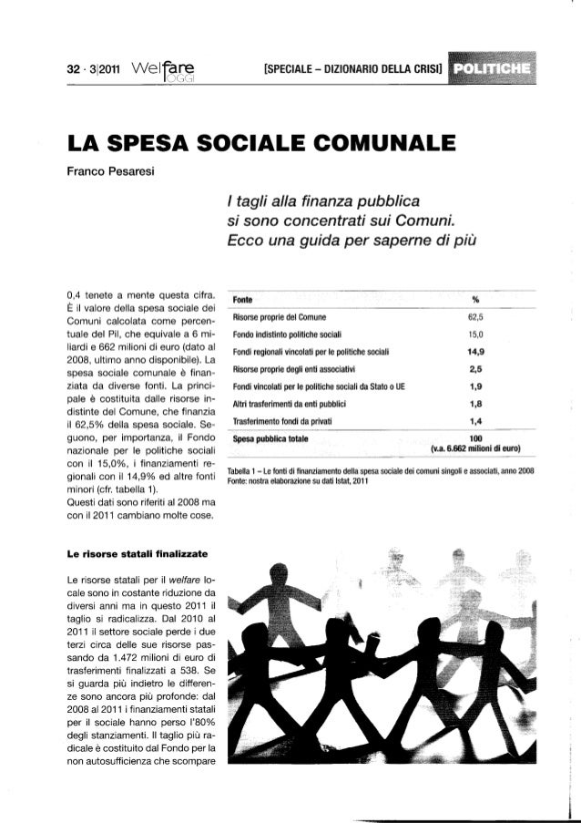La spesa sociale comunale