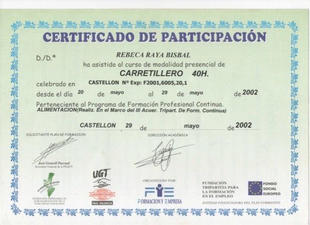 Certificado de carnet de carretillero