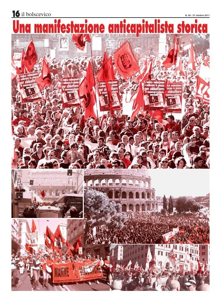 16 il bolscevico   N. 38 - 27 ottobre 2011