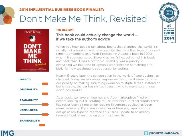 @ROHITBHARGAVA  IMPACT:  THE REVIEW:  This book could actually change the world ... if we take the author's advice  When y...