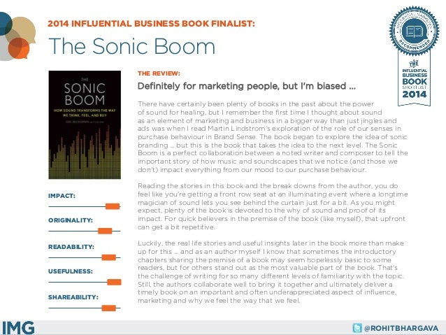 @ROHITBHARGAVA  IMPACT:  THE REVIEW:  Definitely for marketing people, but I'm biased ...  There have certainly been plent...