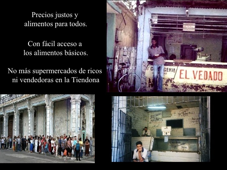 Precios justos y  alimentos para todos. Con fácil acceso a  los alimentos básicos. No más supermercados de ricos  ni vende...