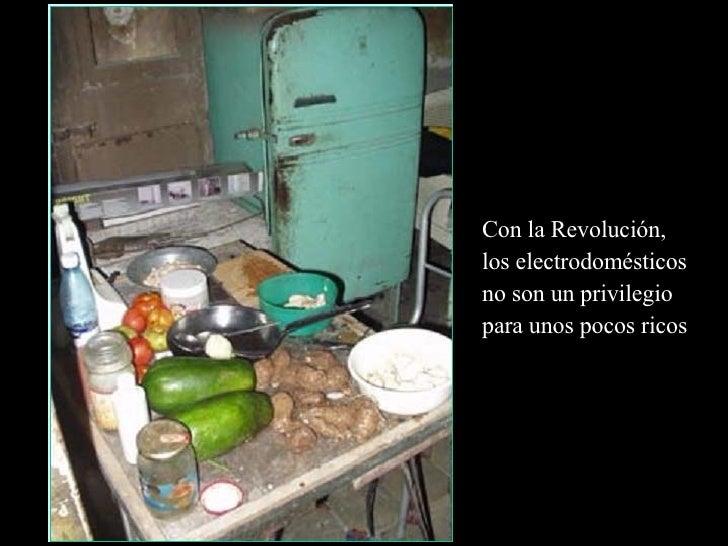 Con la Revolución, los electrodomésticos no son un privilegio  para unos pocos ricos