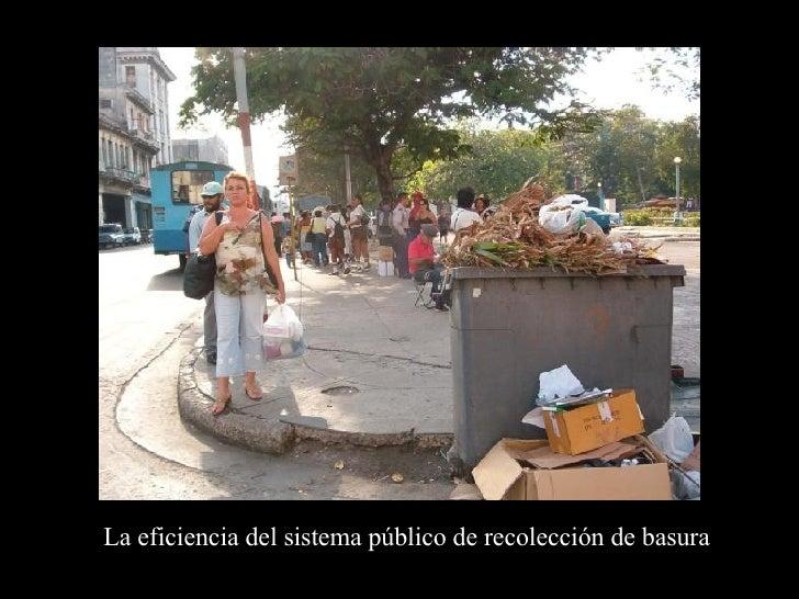 La eficiencia del sistema público de recolección de basura