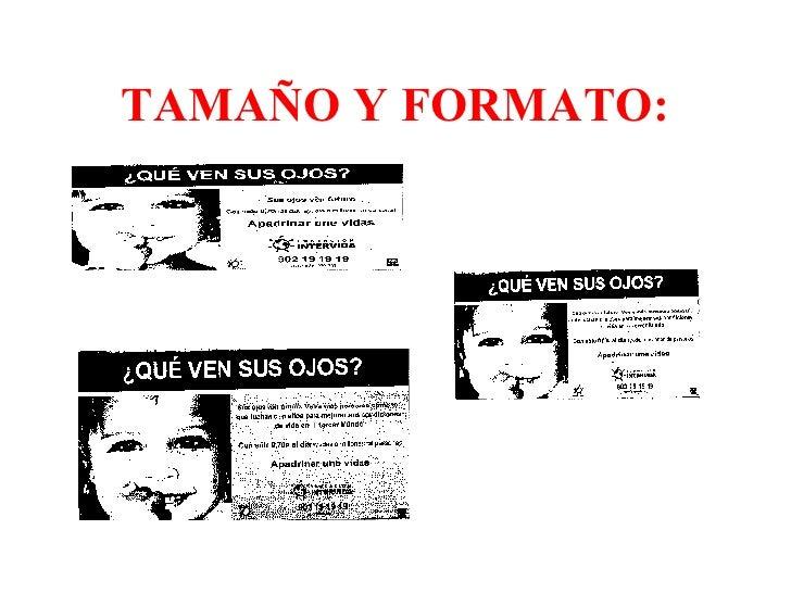 TAMAÑO Y FORMATO: