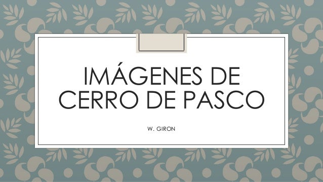 IMÁGENES DE CERRO DE PASCO W. GIRON
