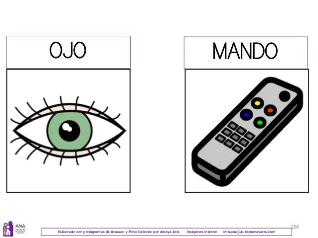 104 OJO MANDO Elaborado con pictogramas de Arasaac y Picto Selector por Amaya Áriz. Imágenes Internet info.ana@autismonava...
