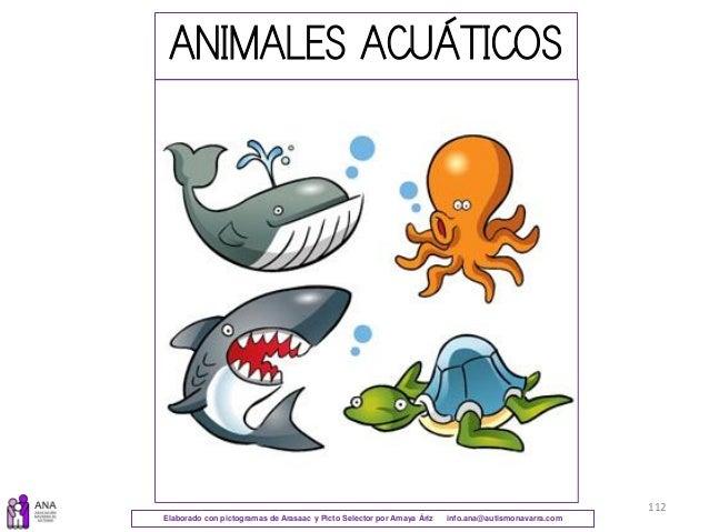 Elaborado con pictogramas de Arasaac y Picto Selector por Amaya Áriz info.ana@autismonavarra.com 112 ANIMALES ACUÁTICOS