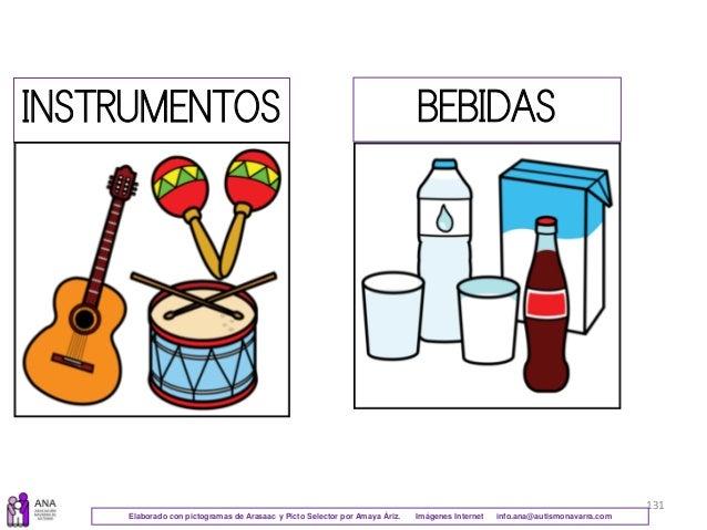 131 INSTRUMENTOS BEBIDAS Elaborado con pictogramas de Arasaac y Picto Selector por Amaya Áriz. Imágenes Internet info.ana@...