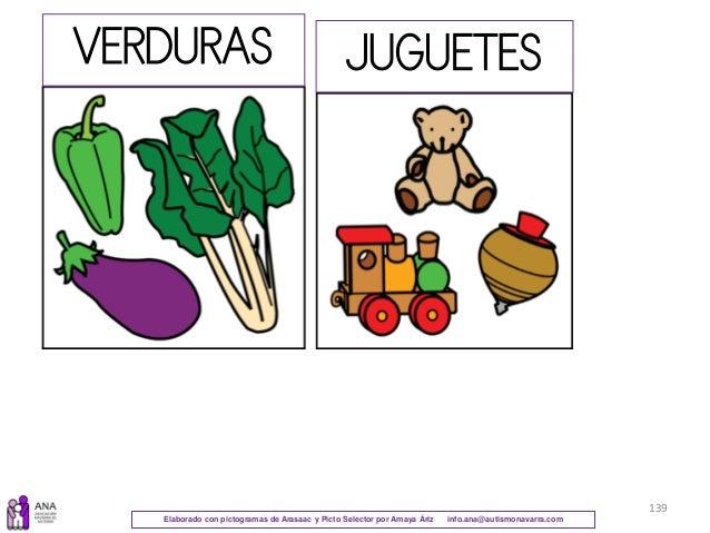Elaborado con pictogramas de Arasaac y Picto Selector por Amaya Áriz info.ana@autismonavarra.com 139 VERDURAS JUGUETES