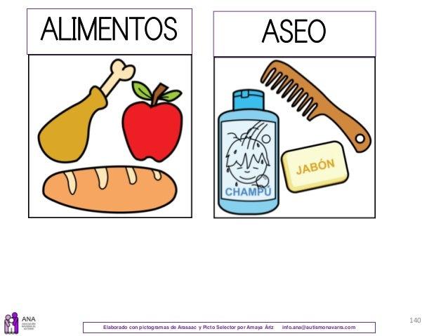Elaborado con pictogramas de Arasaac y Picto Selector por Amaya Áriz info.ana@autismonavarra.com 140 ALIMENTOS ASEO