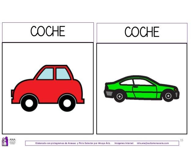 15 COCHE COCHE Elaborado con pictogramas de Arasaac y Picto Selector por Amaya Áriz. Imágenes Internet info.ana@autismonav...
