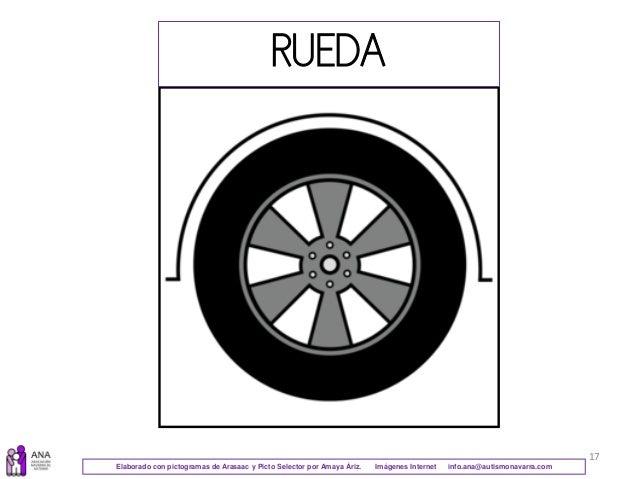 17 RUEDA Elaborado con pictogramas de Arasaac y Picto Selector por Amaya Áriz. Imágenes Internet info.ana@autismonavarra.c...