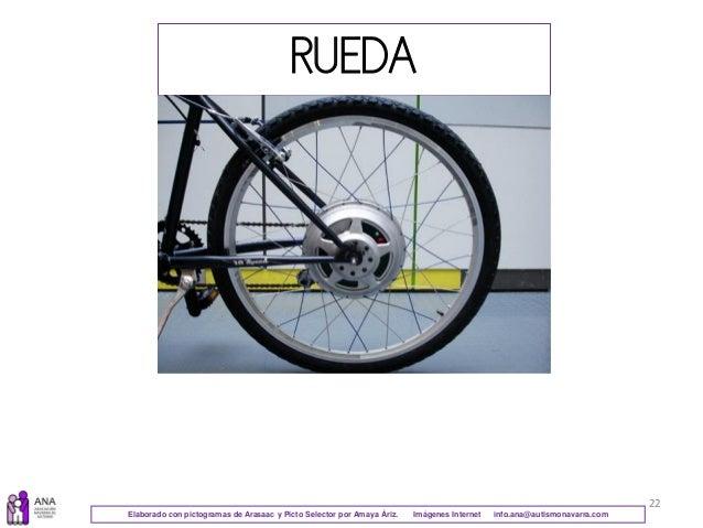 22 RUEDA Elaborado con pictogramas de Arasaac y Picto Selector por Amaya Áriz. Imágenes Internet info.ana@autismonavarra.c...