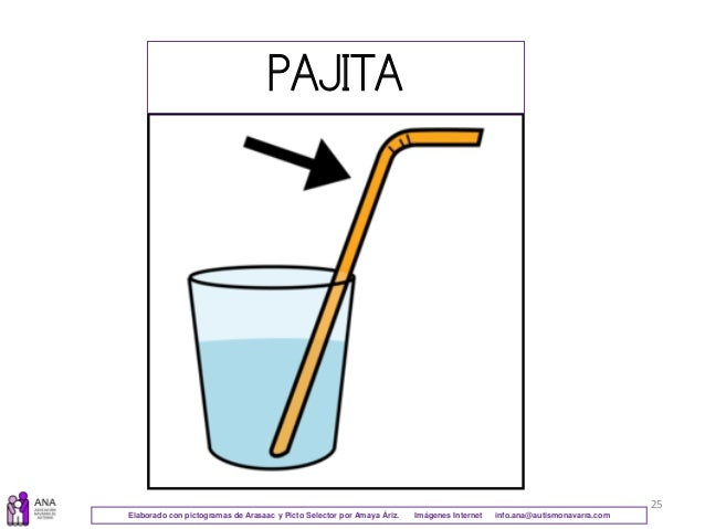 25 PAJITA Elaborado con pictogramas de Arasaac y Picto Selector por Amaya Áriz. Imágenes Internet info.ana@autismonavarra....