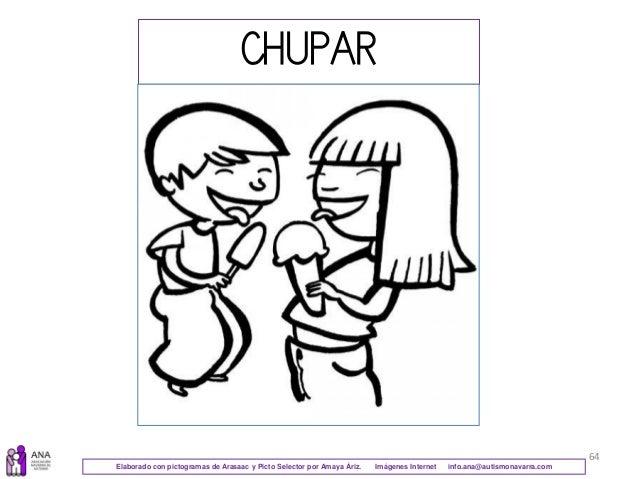 64 CHUPAR Elaborado con pictogramas de Arasaac y Picto Selector por Amaya Áriz. Imágenes Internet info.ana@autismonavarra....