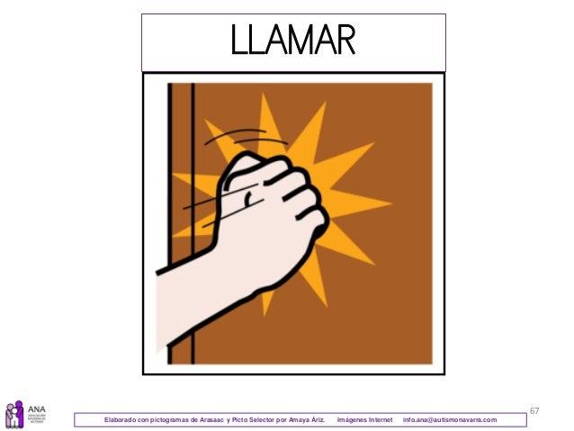 67 LLAMAR Elaborado con pictogramas de Arasaac y Picto Selector por Amaya Áriz. Imágenes Internet info.ana@autismonavarra....