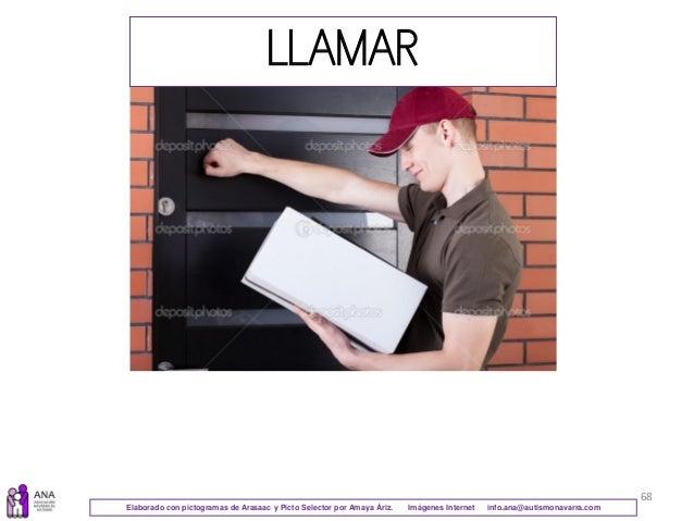 68 LLAMAR Elaborado con pictogramas de Arasaac y Picto Selector por Amaya Áriz. Imágenes Internet info.ana@autismonavarra....