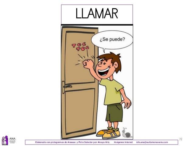 72 LLAMAR Elaborado con pictogramas de Arasaac y Picto Selector por Amaya Áriz. Imágenes Internet info.ana@autismonavarra....