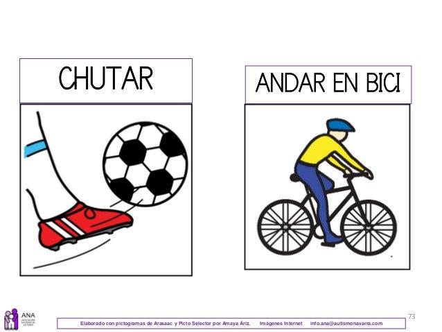 73 CHUTAR ANDAR EN BICI Elaborado con pictogramas de Arasaac y Picto Selector por Amaya Áriz. Imágenes Internet info.ana@a...