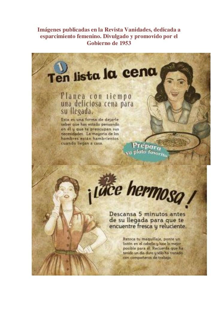 Imágenes publicadas en la Revista Vanidades, dedicada a esparcimiento femenino. Divulgado y promovido por el              ...
