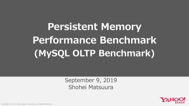 Persistent Memory Performance Benchmark(MySQL OLTP Benchmark)  #persistentmemory #inteloptane #inteloptanedcpersistentmemo...