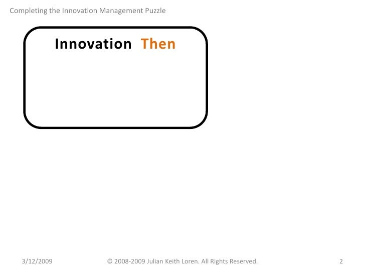 Completing the Innovation Management Puzzle Slide 2