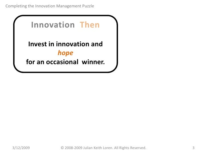 Completing the Innovation Management Puzzle Slide 3