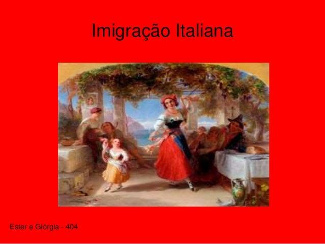 Imigração Italiana Ester e Giórgia - 404