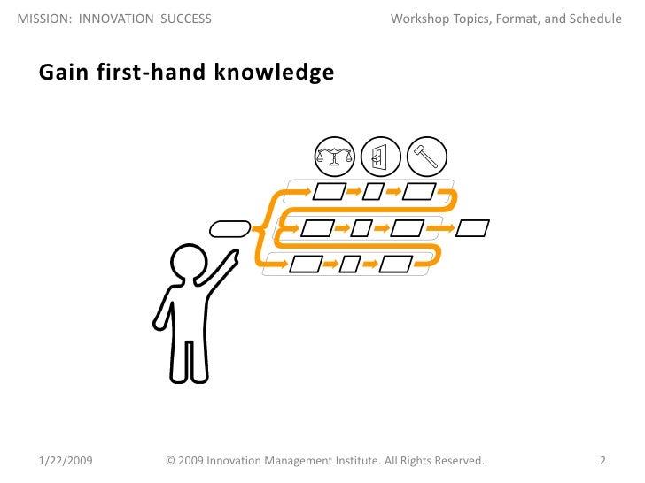 Mission: Innovation Success Workshop Slide 2